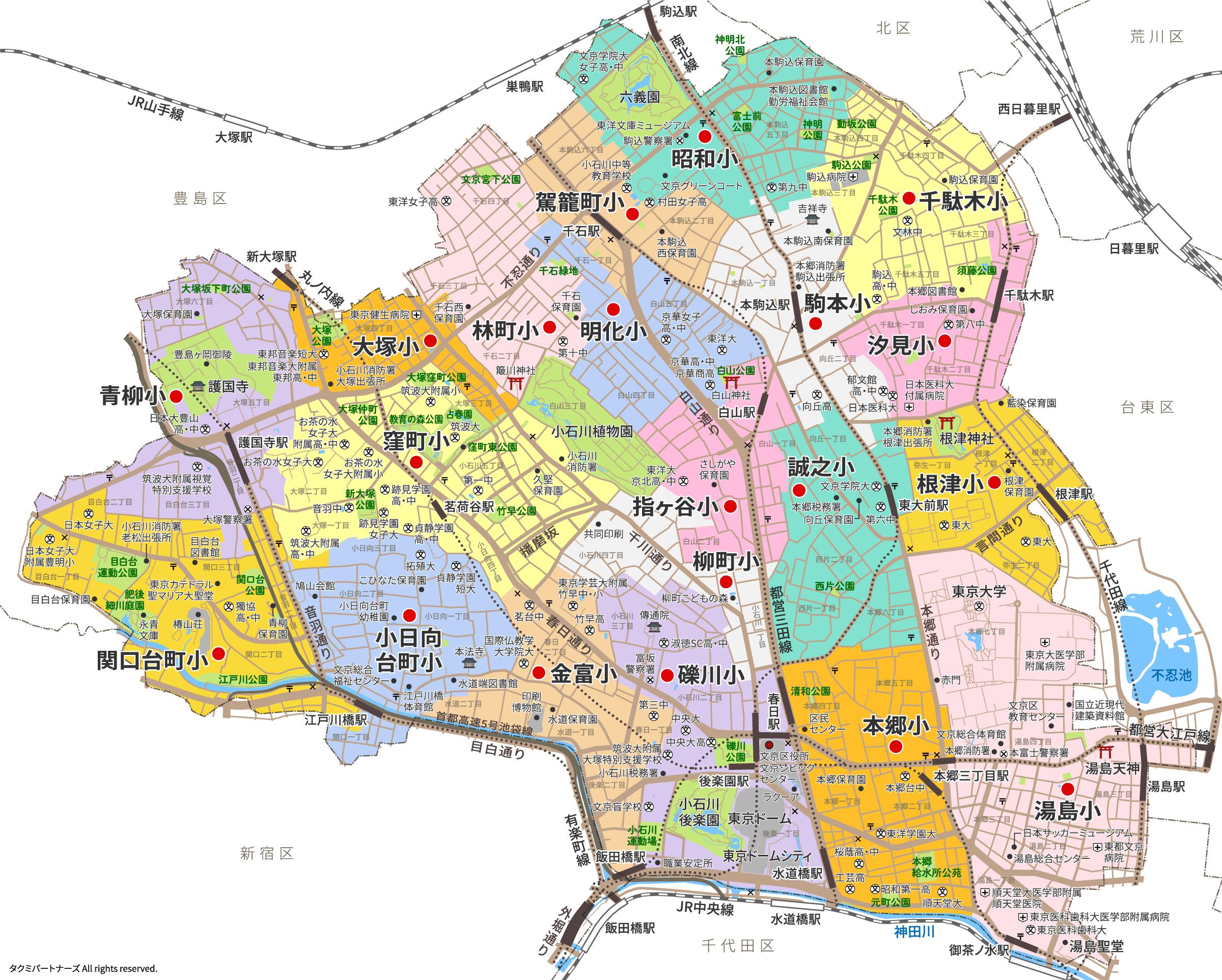 bunkyoelschool_erea_map